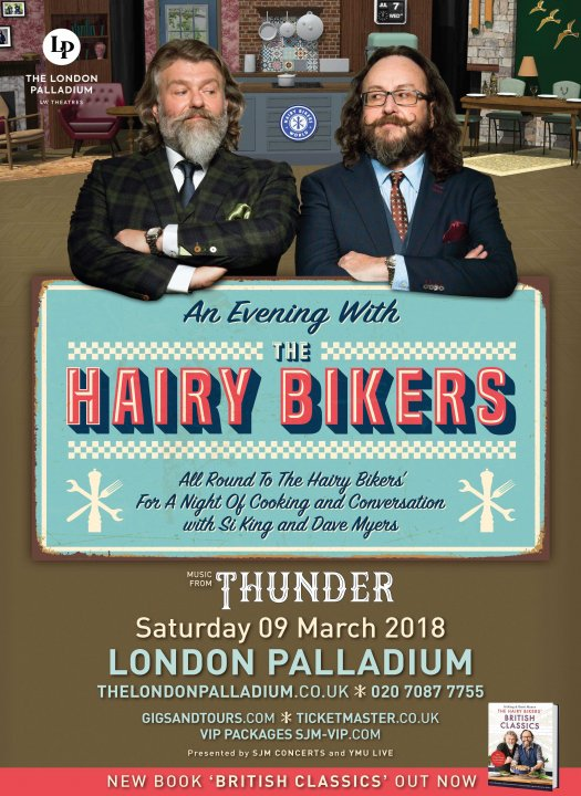 Thunder join The Hairy Bikers at the London Palladium