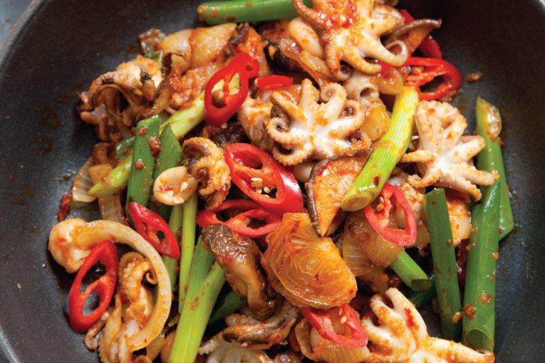 Fiery octopus (Ojingeo bokkeum)