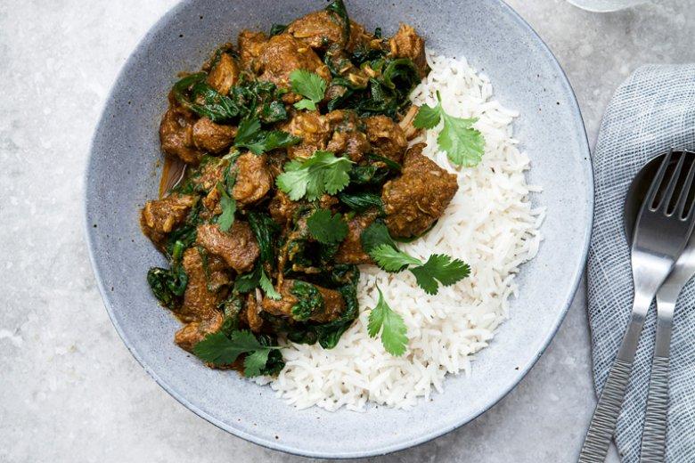 Green Lamb Curry