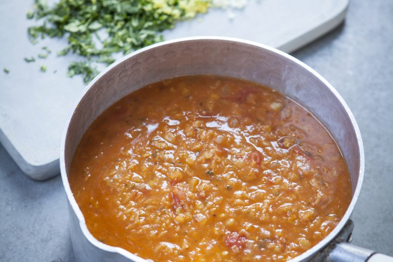 Red Lentil and Harissa Soup