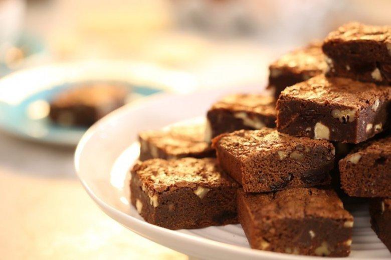 Bikers' chocolate brownies
