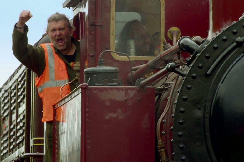 A hairy train driver