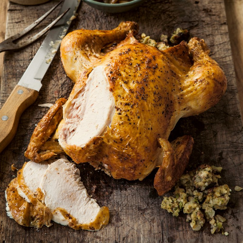 Roast Chicken with Herby Stuffing