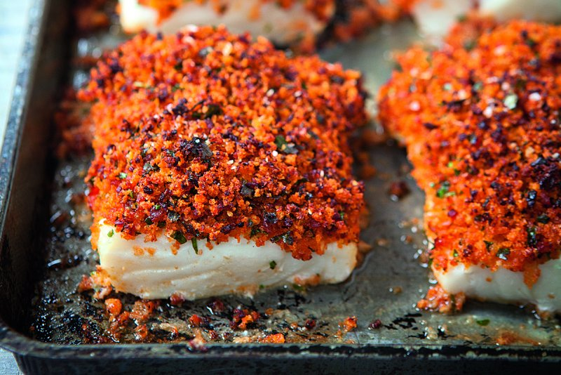 Baked Fish With Chorizo Crust Recipes Hairy Bikers