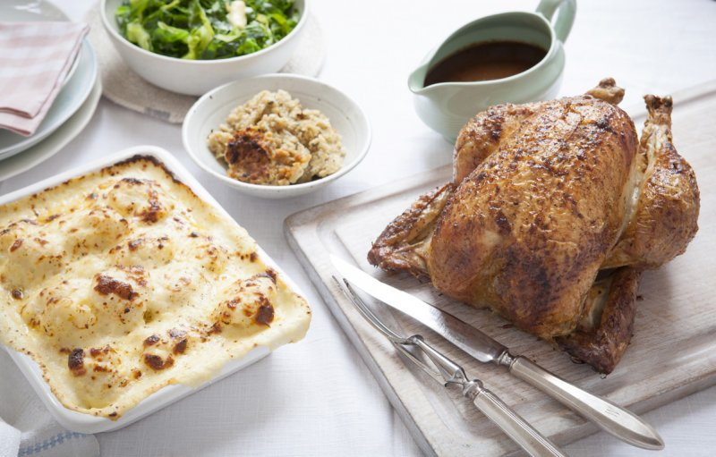 Classic Roast Chicken with Sage and Onion stuffing