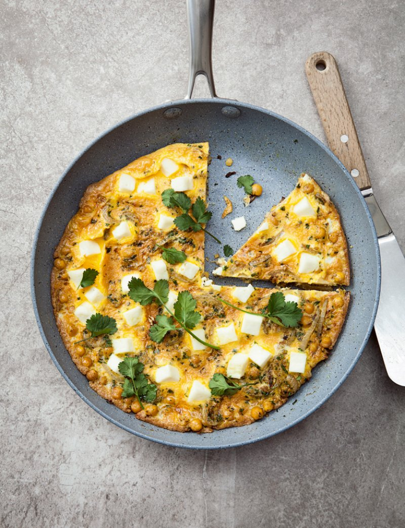 Chickpea and Paneer Frittata