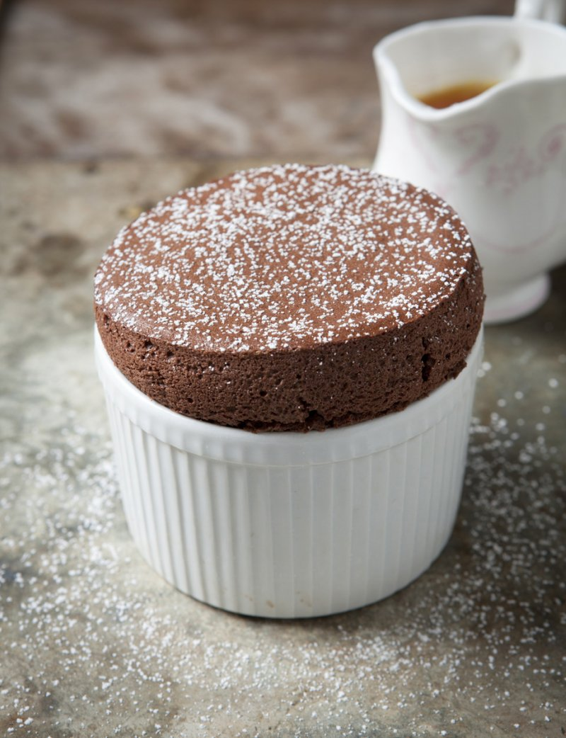 Chocolate and Orange Soufflé with Grand Marnier sauce