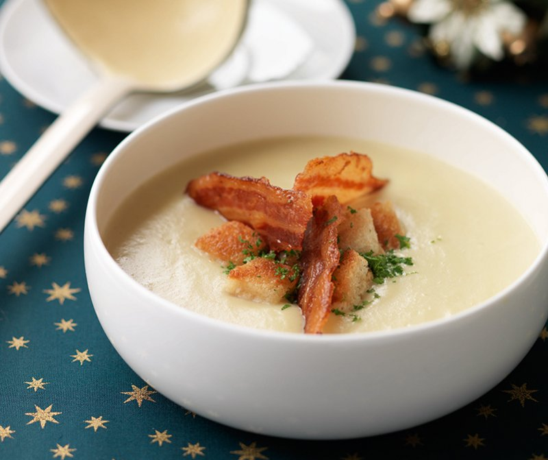 Jerusalem Artichoke Soup With Bacon Croutons Recipes Hairy Bikers