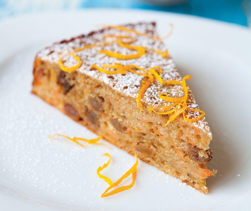 Moist carrot and sultana cake