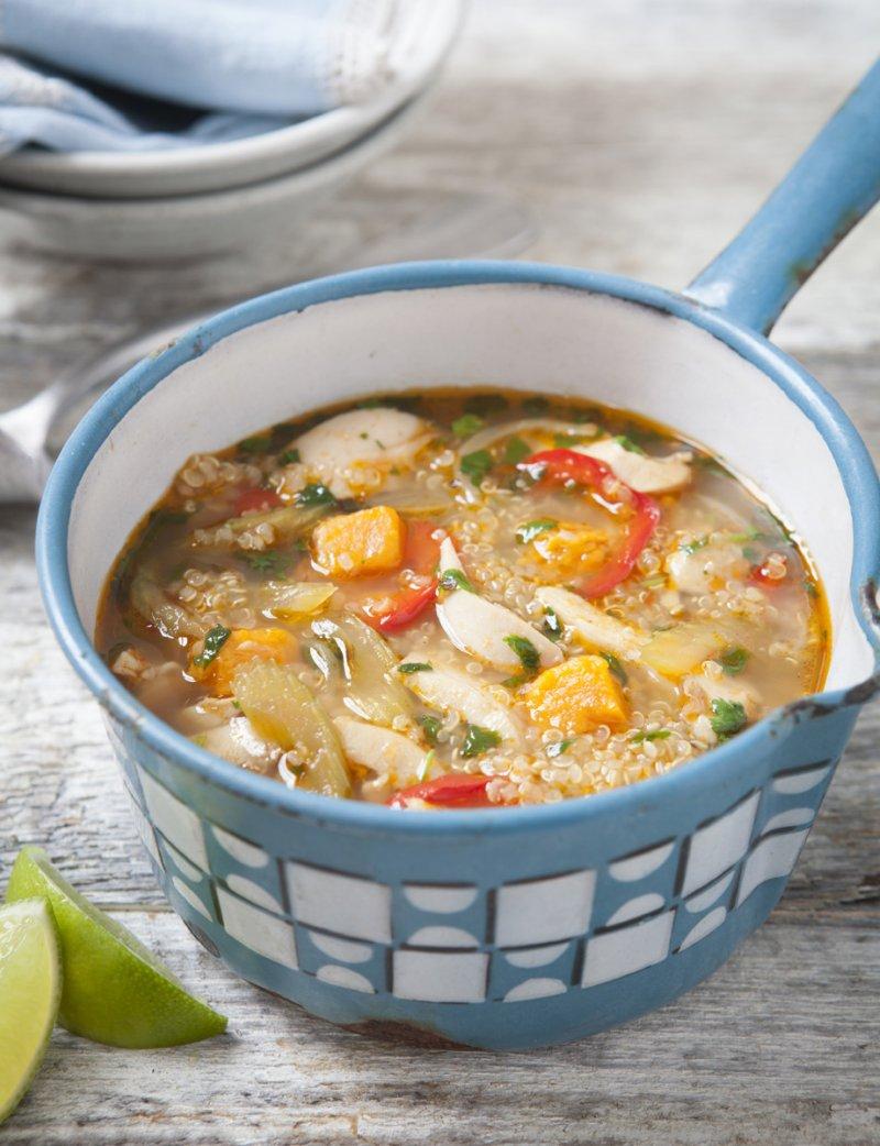 Peruvian Chicken Soup with Quinoa