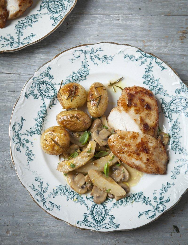 Posh Chicken Fricassée with Artichokes